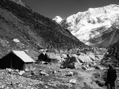 Camping at Chhukung valley