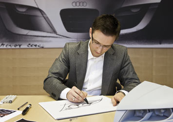 Audi LED Lights Design Sketch