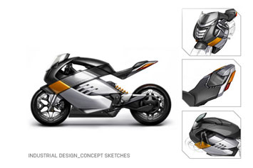 Robrady Vectrix Superbike Design Sketch