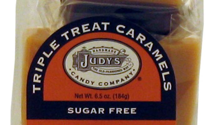 Triple Treat Caramels 6.5 oz. package by Judy's Candy Co.