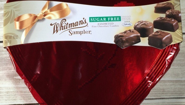 Whitman's Sampler Sugar Free Assorted Chocolates Valentine Heart, 10 oz.