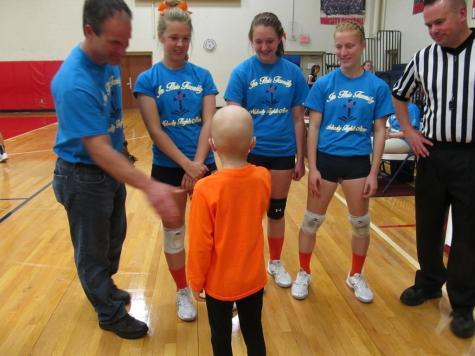 DCC Volleyball Orange Night A Success – Lots of Love for Shea