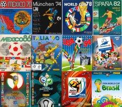 Panini Sticker albums through the history 1970-2014