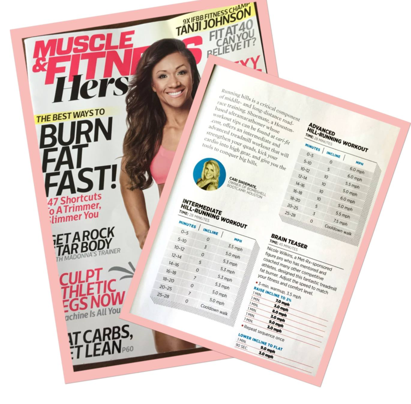 advanced hill running workout seen in muscle fitness hers