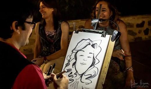 caricatura tradicional en vivo
