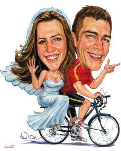 bride on a bike