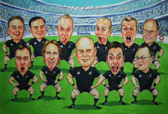 haka wariior dance caricature picture