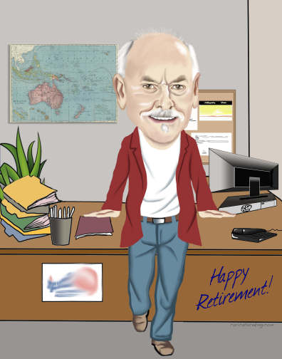 george retirement caricature