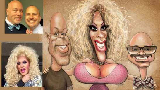 three_person_caricature_drag_queen