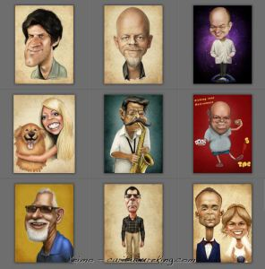 Keimo caricature art for gift giving ideas