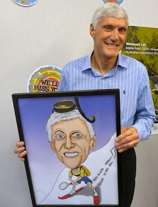 retirement caricature