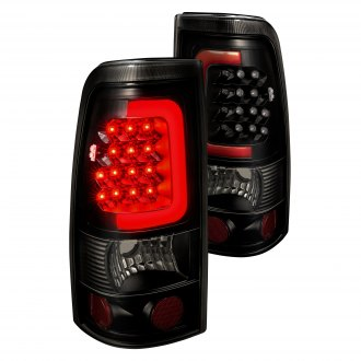 2001 GMC Sierra Custom   Factory Tail Lights     CARiD com Lumen       Black Smoke Fiber Optic LED Tail Lights