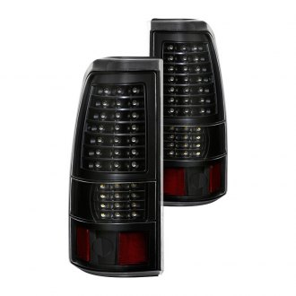 2001 GMC Sierra Custom   Factory Tail Lights     CARiD com Spyder       Black LED Tail Lights
