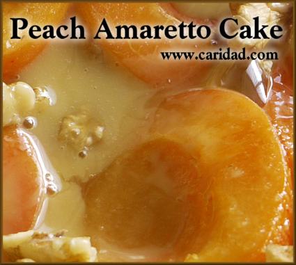 PeachAmarettoCake