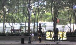 Fall Fashion Tents at Bryant Park
