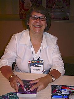 Caridad Pineiro at Harlequin Book Signing