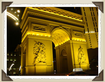 Arc de Triomphe in front of Paris