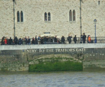 Traitor's Gate as seen from the Thames