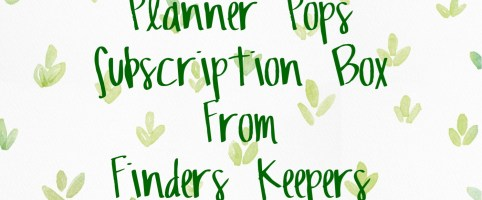 Planner Pops Subscription from Finders Keepers