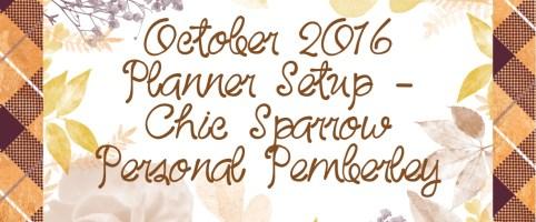 October 2016 Planner Setup – Chic Sparrow Personal Pemberley in Honey