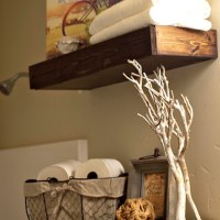 DIY Chunky Bathroom Shelves