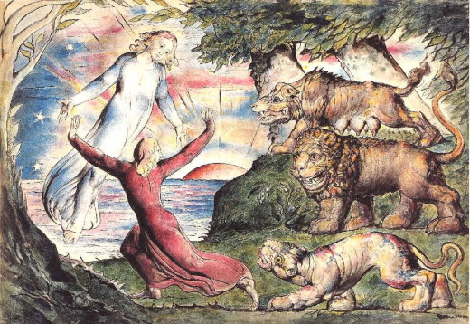 William Blake – Dante fugge dalle fiere