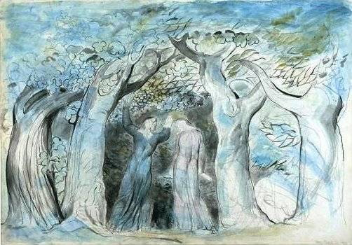 William Blake – Dante e Virgilio entrano nella selva