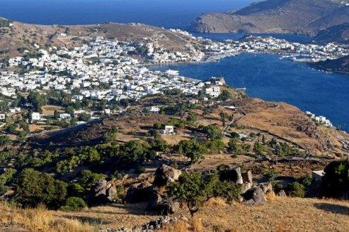 Vista de Skala desde Jora (Chora)