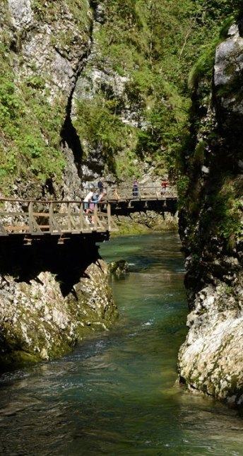 Garganta de Vintgar. Cañón del Río Radovna