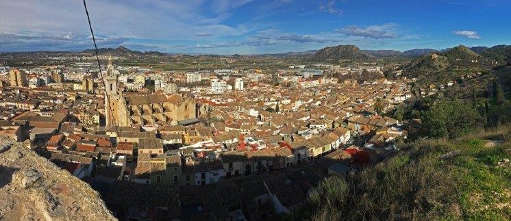 Vista de Xàtiva desde la ermita de Sant Josep