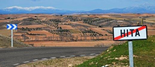 Paisaje de la Campiña y la Sierra de Ayllón nevada