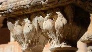 Claustro de Santo Domingo de Silos. Capitel Aves Fantásticas