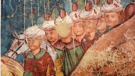 Monasterio Moldevita. Asedio de Constantinopla. Soldados Turcos