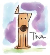 Ilustración de Tina con su oreja levantada