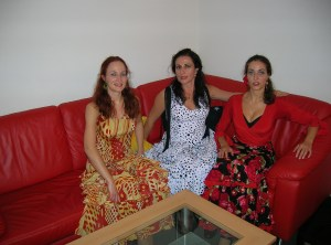 With Las Hermanas Alcalá