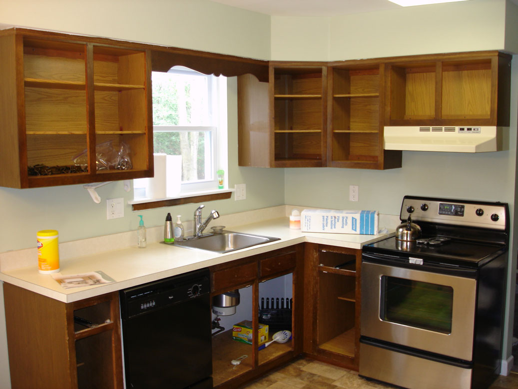 Gloucester County Cabinet Refinishing kitchen cabinet refinishing Oak Cabinets Before Oak Cabinets Refinished