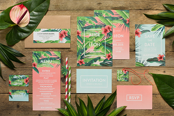 My Dear Paper - Wedding Jungle collection - Photo by Cyrielle Mothas