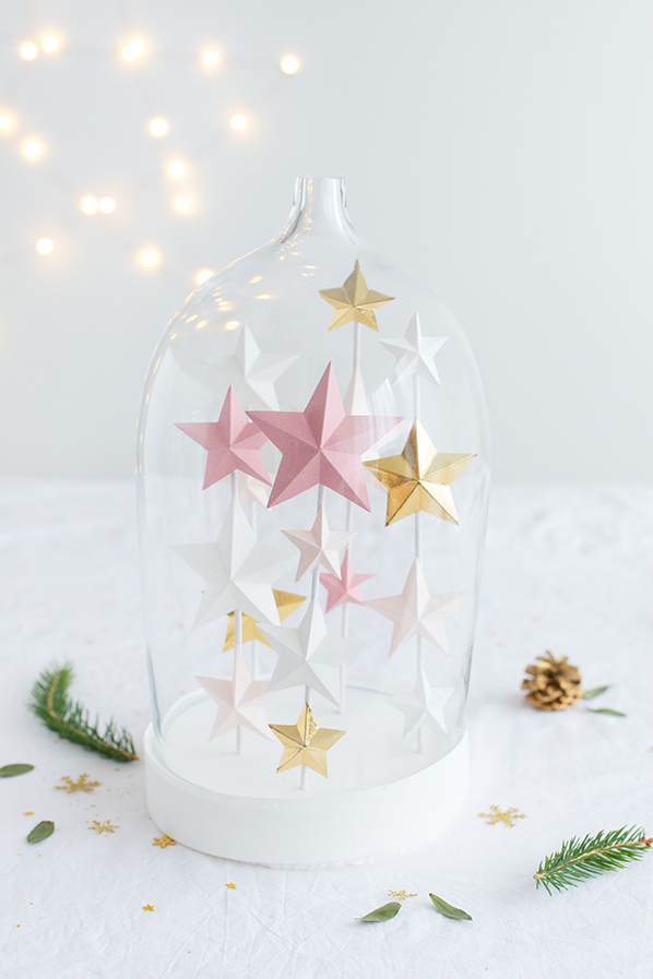 3D stars for Christmas - Carnets parisiens