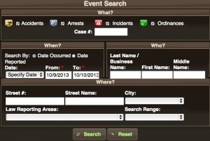 P2C search form
