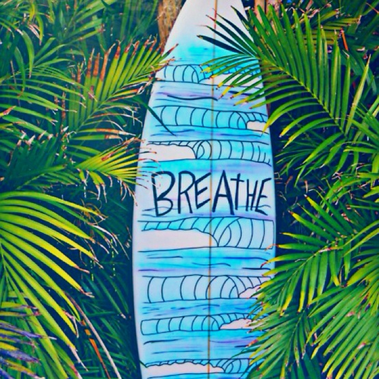 Summer Beach Quote Surfboard