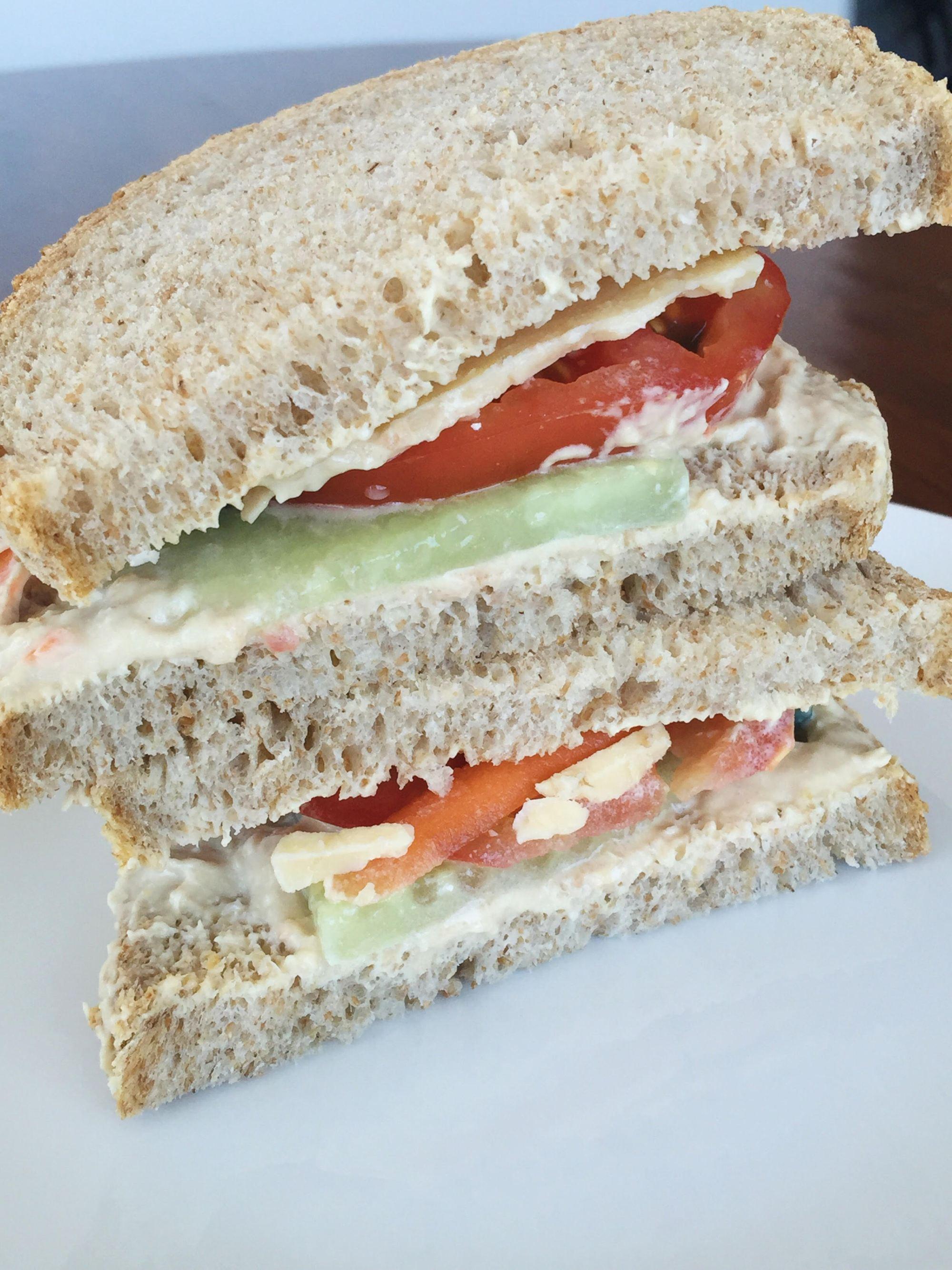 Loaded Hummus & Veggie Sandwich