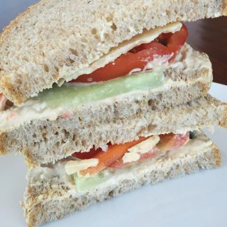 Loaded Hummus & Veggie Sandwich
