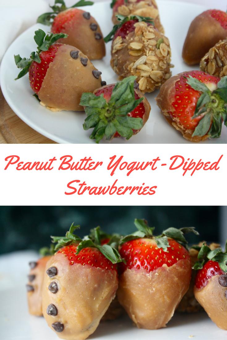 Peanut Butter Yogurt Dipped Strawberries
