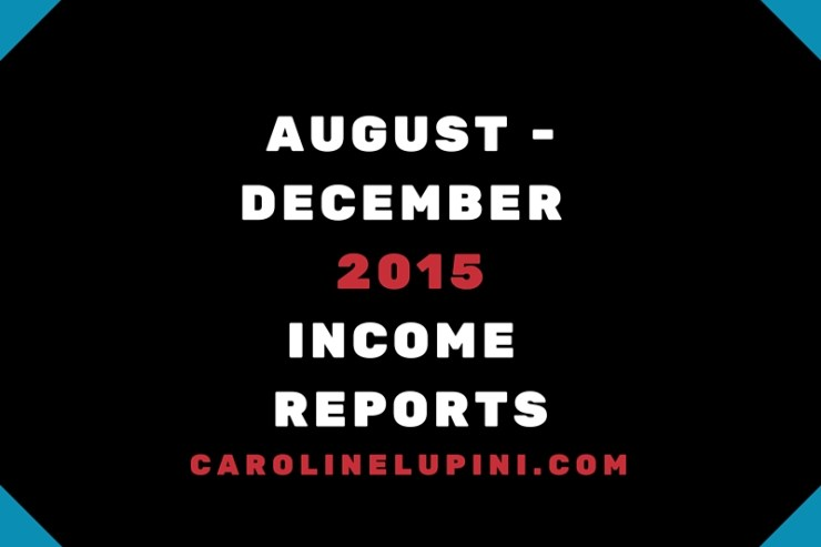 August -december 2015income reports