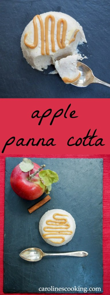 This apple panna cotta is a seasonal take on the traditional creamy Italian dessert, the subtle apple and cinnamon adding to an already delicious easy treat.
