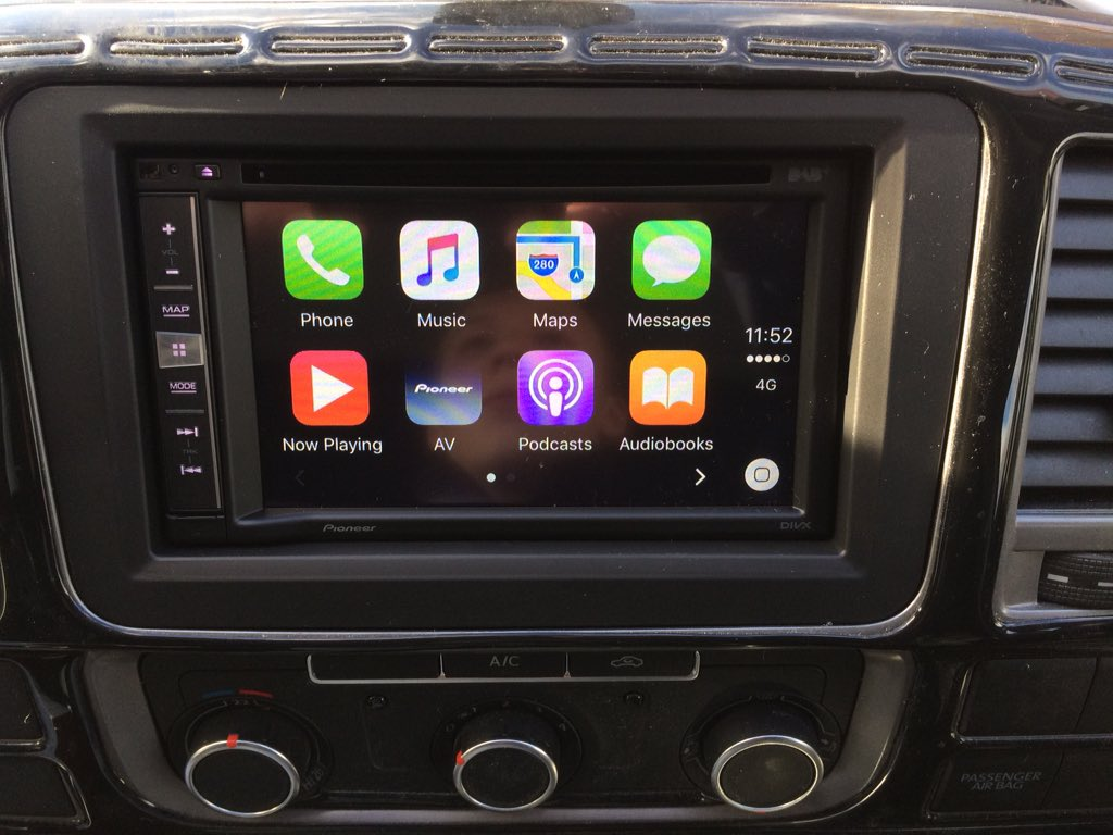 carplay installs pioneer avic f970dab in a 2014. Black Bedroom Furniture Sets. Home Design Ideas