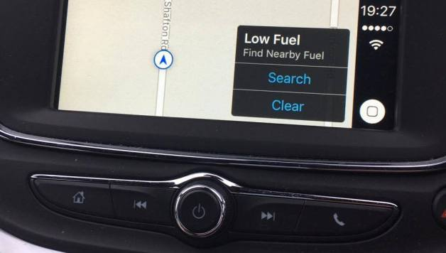 carplay low fuel