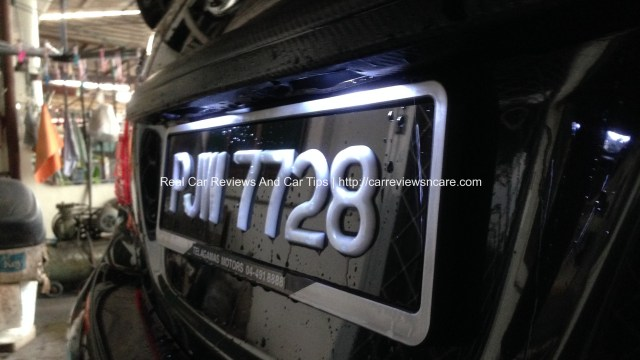Toyota Vios License Plate White Light LEDs Completed