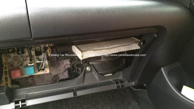 Cabin Air Filter in Toyota Vios