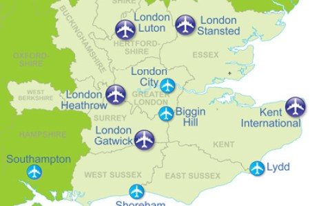 map of airports in the uk